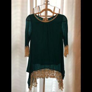 Boutique lace tunic
